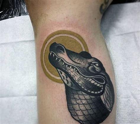 new school alligator tattoo 60 alligator tattoo designs for men cool crocodiles