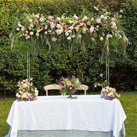 Wedding Ceremony Table by Hanging Flowers And Flower Canopies For Ceremony Tables
