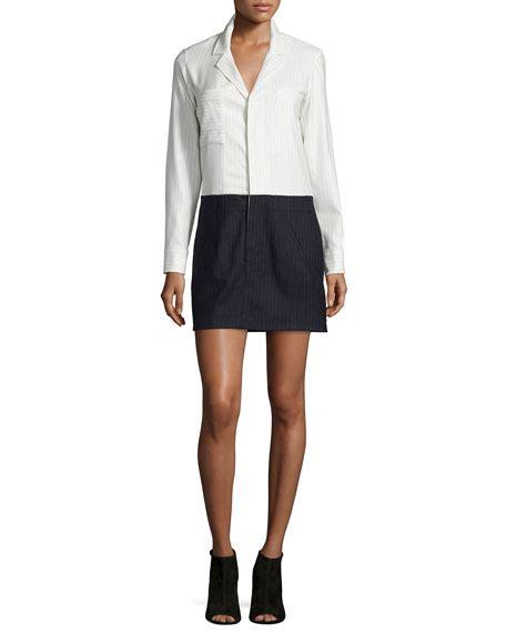 Panel Sleeve Shirtdress 10 crosby derek lam 10 crosby by derek lam neiman