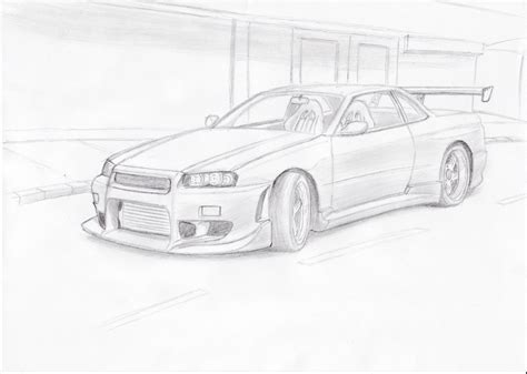 nissan skyline drawing by nissan skyline by blackdoggdesign on deviantart
