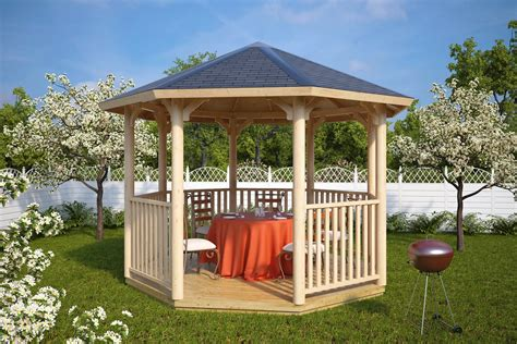 Pavillon 5x3 by Wooden Garden Gazebo Uk Elizabeth L 9 5m 178 3 5 X 3 5 M