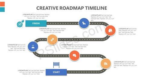 creative roadmap powerpoint timeline pslides