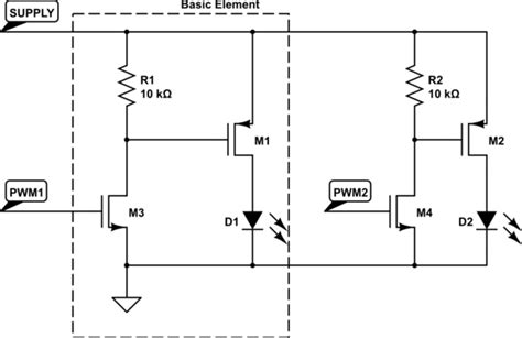 led common cathode circuit led using a n mosfet to switch a common cathode ledstrip electrical engineering stack