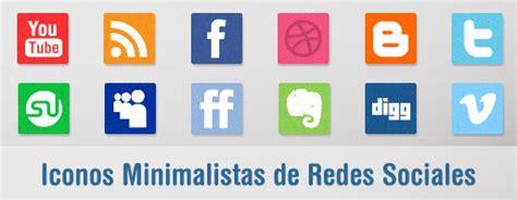 resolucion imagenes redes sociales iconos de redes sociales con dise 241 o minimalista
