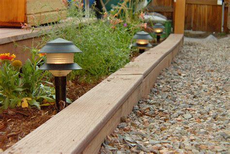 Landscape Edging Wooden Posts Landscape Edging Materials Corner