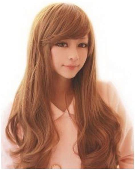 fleco largo tipos de peinados para cabello largo