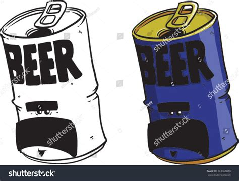 beer can cartoon cartoon beer can vector clip art stock vector 143961040