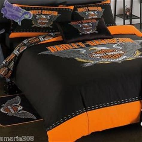Harley Davidson Bed Set Harley Davidson Spread Your Wings Single Bed Quilt Cover Set Great Gift Idea Ebay