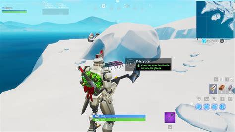 fortnite chercher avec sentinelle sur une ile glacee