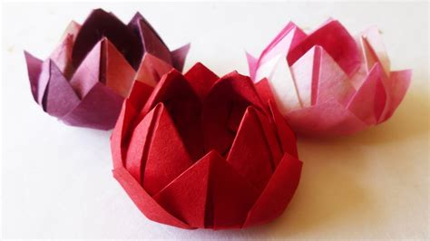 Ancient Japanese Origami - japanese traditional origami water lotus flower