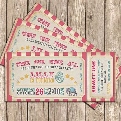 printable carnival tickets free 7 best images of printable circus invitations free