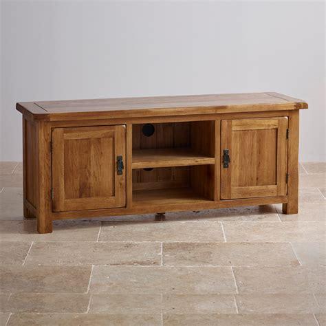 original rustic wide tv cabinet  solid oak oak furniture land