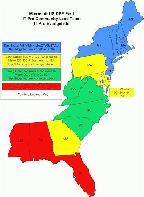 map of eastern seaboard of usa map us eastern seaboard world maps