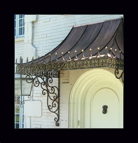 wrought iron awning brackets custom made decorative antique copper awning with wrought