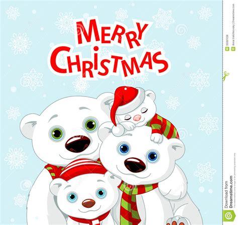 Family Natal I Do cart 227 o da fam 237 lia do urso do natal ilustra 231 227 o do vetor