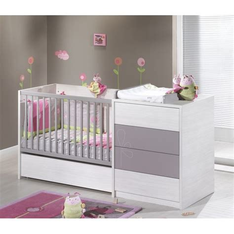 chambre bebe taupe lit chambre transformable 120x60 bb sauthon opale taupe