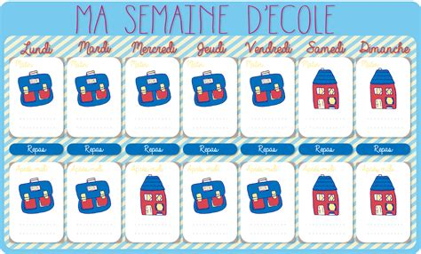 Calendriergratuit F Le Calendrier De La Semaine D 233 Cole 224 Imprimer Cadeau