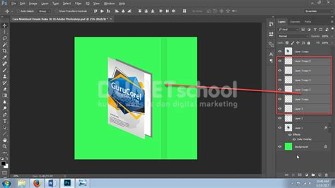 cara membuat garis di adobe photoshop cs6 cara membuat desain buku 3d di adobe photoshop part 2