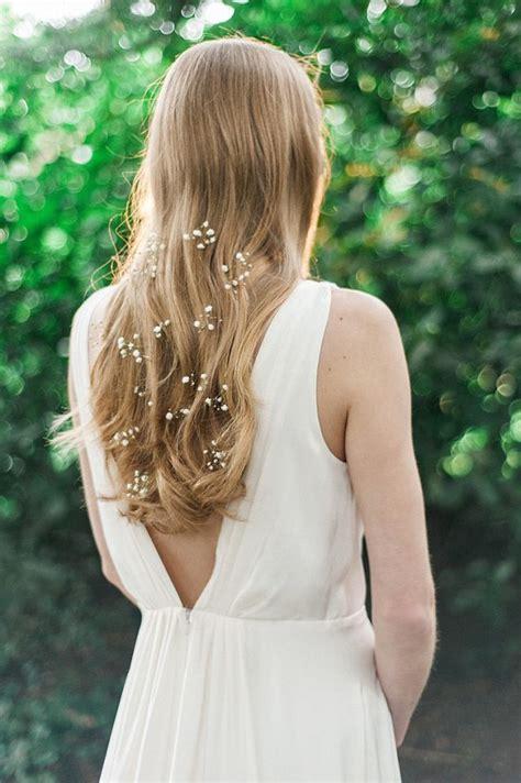 Wedding Hairstyles With Gypsophila by Wedding Hairstyles Hair Waves Flowers Gyp Gypsophila
