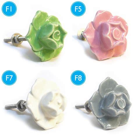 Ceramic Flower Knobs pushka knobs ceramic flower cupboard door drawer pulls