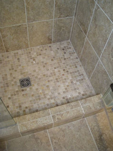 Bathroom Shower Floor Shower Tile Installation With Glass Mosaics Minnesota Regrout And Tile