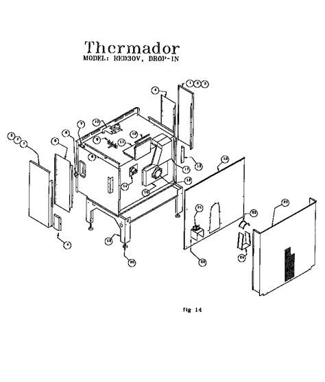 thermador red30v drop in electric range timer stove