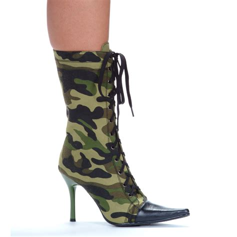 camo army pointy toe stiletto ankle boots ebay
