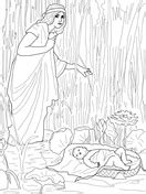 coloring pages moses killing egyptian moses kills the egyptian overseer coloring page free