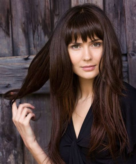 long layered hairstyles with bangs beauty riot 263 best images about beauty on pinterest