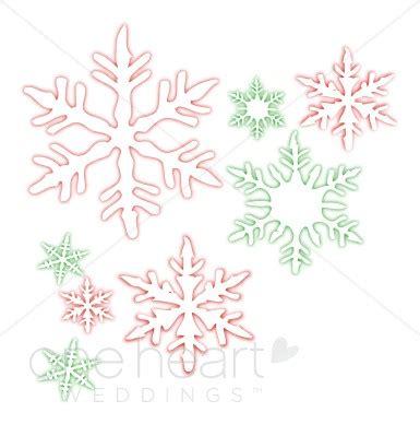 Winter Wedding Clip Snowflake Wedding Clipart