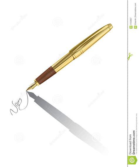 la pluma de oro arte contrato de firma de la pluma del oro del vector fotograf 237 a de archivo libre de regal 237 as