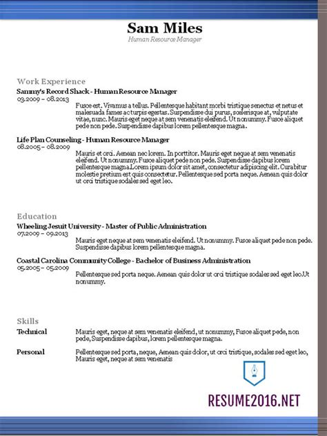 format of resume 2016 resume templates 2016 which one should you choose