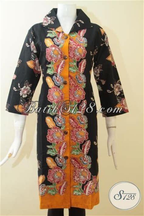 Dress Motif Bunga Warna Hitam butik jual dres batik bagus warna hitam kombinasi