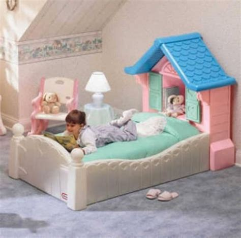 Storybook Cottage Bed by Tikes Doll House Toddler Bed Like Newrare In