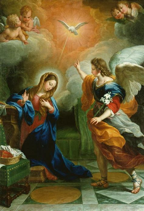 C O Painting by Nec Spe Nec Metu Agostino Masucci The Annunciation 1742