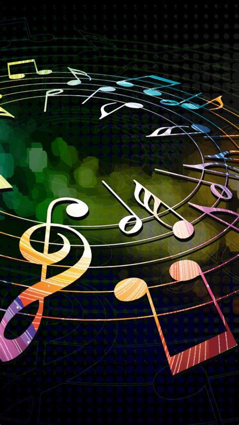 music layout on iphone colorful musical notes iphone 5s wallpaper
