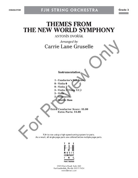 themes from the new world symphony new world symphony themes from the by antonin dv j w