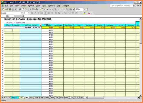 Excel Business Expense Template by Small Business Spreadsheet For Income And Expenses Vertola