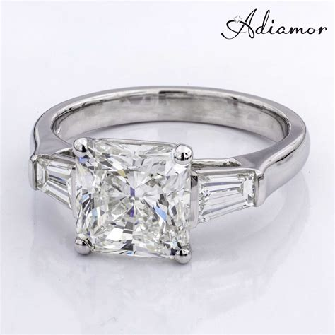 radiant cut custom engagement ring adiamor