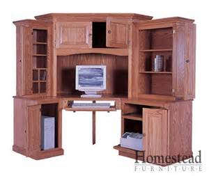 Corner Desks Computer Custom Built Hardwood Furniture By Homestead Furniture Made In Usa