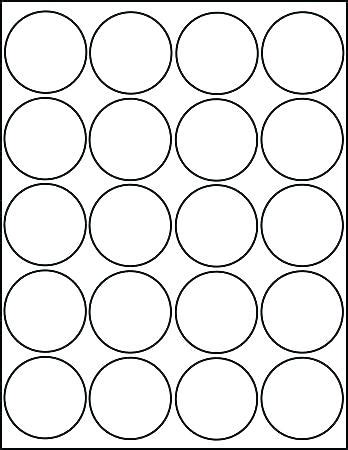 Circle Sticker Labels Template Onerecti Info 1 Inch Sticker Template