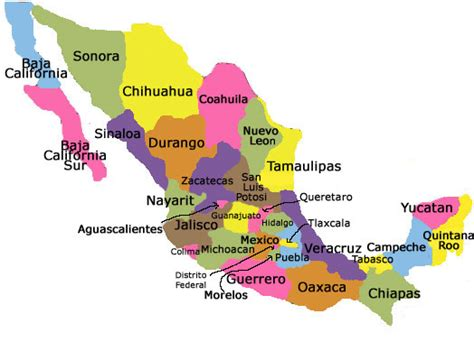 regional map of mexico homestay in mexico