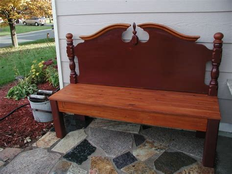 bench from headboard bench made from old headboard diy pinterest old
