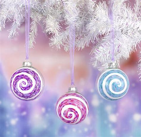 snowy blizzard swirls christmas ornaments project by decoart