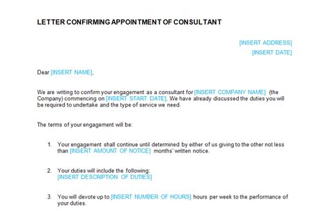appointment letter format for tax consultant employment templates page 3 of 18 bizorb