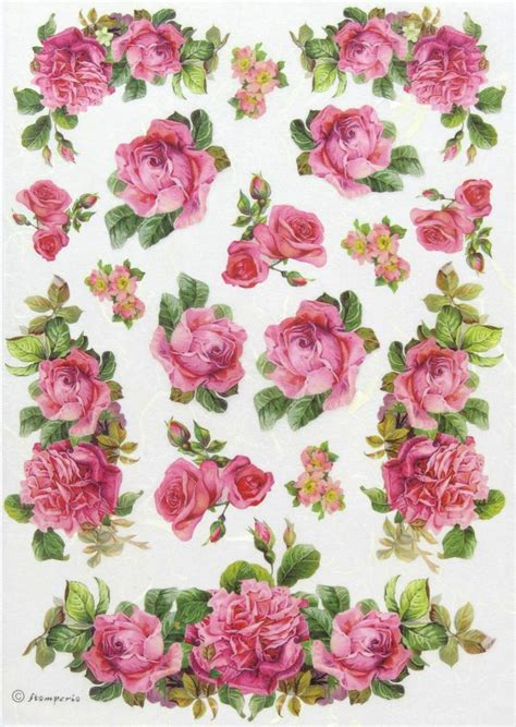 Decoupage With Rice Paper - ricepaper decoupage paper scrapbooking sheets roses and
