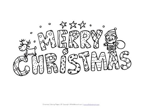 Free Merry Christmas Coloring Pages Merry Words Coloring Pages