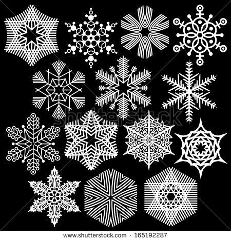 A Snowflake Out Of Paper - paper cut out snowflakes set stock vector 165192287