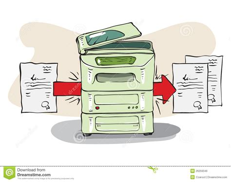 sketchbook copy selection copy machine copies some documents royalty free stock