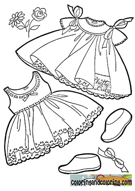 simple baby clothes coloring pages coloring pages